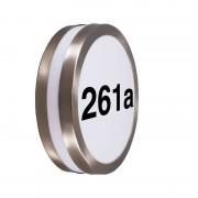 QAZQA Outdoor Wall Lamp Steel IP44 with House Number Sticker - Leeds