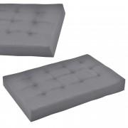[en.casa]® Raklapbútor párna - Szivacs huzattal raklaphoz (Ülőpárna) - világos szürke