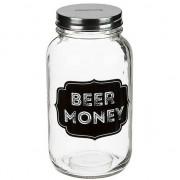 Geen Glazen spaarpot bier geld sparen Beer Money 18 cm