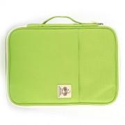 Office Supplies Multi-purpose Zipper Document Folder A4 Storage Bag (Green)