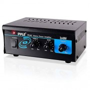Pyle Home Audio Power Amplifier System 2X40W Mini Portable Dual Channel Surround Sound Stereo Receiver Box w/LED For Amplified Subwoofer Speakers, CD DVD Player, Theater Via 3.5mm RCA PCA2