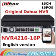 Dahua NVR 16CH 16PoE Ports NVR4216-16P Support up to 5MP Recording Onvif Network Video Recorder HDMI/VGA 16 Channel POE NVR