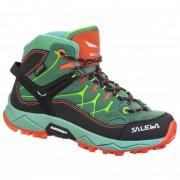 Salewa - Kid's Alp Trainer Mid GTX - Chaussures de randonnée taille 34, turquoise