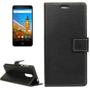 For Wileyfox Swift 2 Litchi Texture Horizontal Flip Leather Case with Holder & Card Slots & Wallet & Photo Frame (Black)