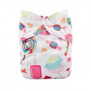 Tinytots Bamboo All In One Reusable Washable One Size Cloth Diaper - Icecream