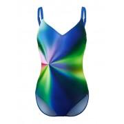 Sunflair Badeanzug, Damen, blau, mit verlaufenden Farben rundum
