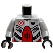LEGO LOOSE Torso Grey Armor With Red and Black Plates
