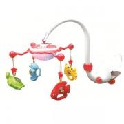 Carusel muzical cu proiectie Aqua Magic - rosu