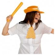 Geen Politie hoed met das oranje