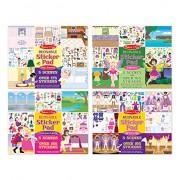 Melissa & Doug Reusable Sticker Pads Set - Fairies, Princess Castle, Play House and Dress up, Multi Color