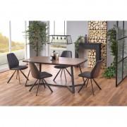 Caruzzo étkazőasztal dió/grafit 180/90/76 cm
