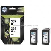 HP C9504EE Patron Bk 2pack No.339 Eredeti HP kellékanyag Cikkszám: C9504EE
