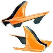 Kawasaki Z800 / Z800E (13-16) Rear Hugger: Pearl Blazing Orange / Metallic Spark Black E730384084