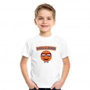 Shoppartners Holland coole smiley t-shirt wit kinderen
