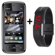 Refurbished Nokia 5233 With LED Watch (1 Year Warranty By Warranty Plaza )