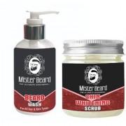Mister Beard Beard Wash 200ml WITH Skin Whitening Scrub 100g