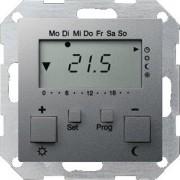 Gira Systeem 55 Ruimteklokthermostaat H5xB10cm Aluminium 237026