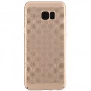 Husa Capac spate Dot Auriu Samsung Galaxy S7 Edge STAR