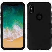 Funda Case Iphone Xs / X Protector Tuff De Uso Rudo - Negro