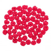 Generic 50 Pcs DIY Handmade Accessories Crochet Ball Knots Chinese Buttons 15 Colors - rose red