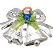 Decoratiune craciun ornament pentru geam 27/20 cm clopotei argintiu