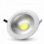 V-TAC Faretto Downlight LED da Incasso 20W COB Rotondo