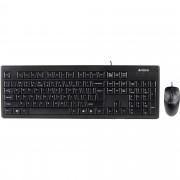 Kit tastatura si mouse A4TECH kit KRS-8372, anti-RSI, USB, negru