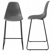 [en.casa]® Design barska stolica - set od 2 komada - 110x46,5cm - tamno siva