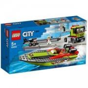 Конструктор Лего Сити - Транспортьор на състезателни лодки, LEGO City Great Vehicles 60254