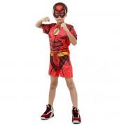 Fantasia Infantil - The Flash Curto com Musculatura Liga da Justiça - Tamanho M (6 a 8 anos) - 16031 - Sulamericana