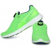 Puma IGNITE DISC Running Shoes For Men(Green)