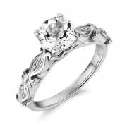 Inel Borealy Aur Alb 14 K 1 5 Ct Topaz Vintage Engagement Ring