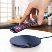 Универсално безжичнo зарядно 'Qi Wireless Charger - Baseus BSWC-P21 10W' (син)