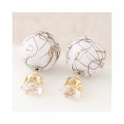 zarzillos de estilo dulce y popular decorado con Ball Bead color Blanco