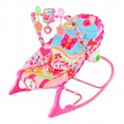 Cadeira de Balanço Bebê Floresta Rosa/Azul - Pura Diversão - Rosa