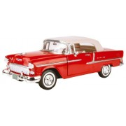 Classic 1955 Chevrolet Bel Air Convertible Die Cast Collectible - 1:18 Scale