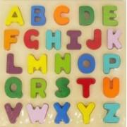 Joc puzzle din lemn Baby Mix Alfabetul