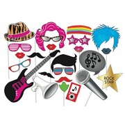 Party Propz Funny Photo Booth Props Set 21Pcs for Musical Parties Or Musical Night