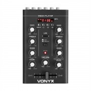 Vonyx STM500BT, 2-канален DJ миксажен пулт, bluetooth, MP3, USB порт, черен (Sky-172.974)