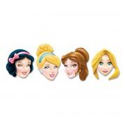 Set de 4 masti decupate cu printesele Disney, Belle, Cenusareasa, Alba ca Zapada si Rapunzel