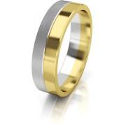Art Diamond Dámský bicolor snubní prsten ze zlata AUG121 50 mm