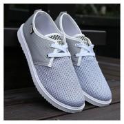 Zapatos De Hombres Con Cordónes De Deportes De Ocio TENIS -Gris