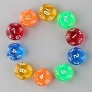 ER Transparente Matriz 12 Caras 5 Con Juego De Color 10-Multicolor