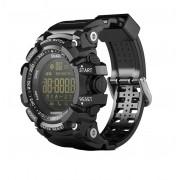 Ceas smartwatch EX16S Sport BT 4.0, monitor fitness, padometru, Android, iOS, notificari, negru/auriu