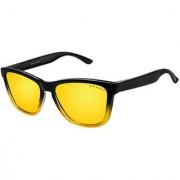 David Blake Yellow Wayfarer Polarised UV Protected Sunglass
