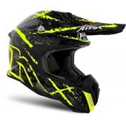 Airoh Terminator Open Vision Carnage Motocross Helmet Black Yellow L