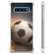 Samsung Galaxy S10+ Hybride Case - Voetbal