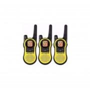 Kit 3 Handies Motorola MH230TPR 37 Km-Negro Y Amarillo