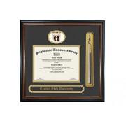 Signature Announcements Marco de Diploma de graduación de la Universidad Central del Estado (40,6 x 40,6 cm), Color Caoba Mate