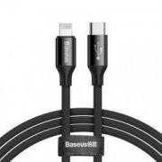 Cablu USB Type-C / Lightning cu Incarcare si Transfer Date 1M 2A - Baseus Yiven CATLYW-C01 Negru
